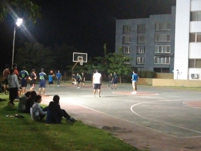 Students Playing during Basketball event