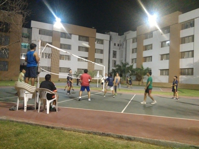 Students Playing during Volleyball event